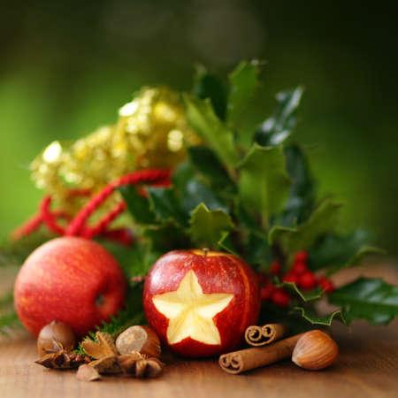 christmas apple: Natale, mela Archivio Fotografico
