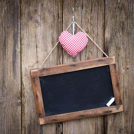 Blackboard, heart Stock Photo - 12733822