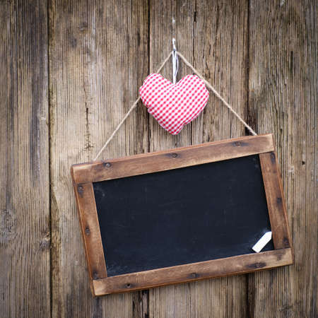 valentine s day: Blackboard, heart