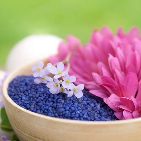 Bath salt, flowers
