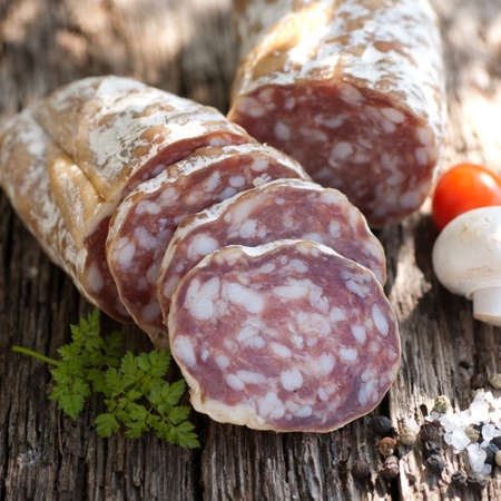 Rustic salami Stock Photo - 13274492
