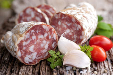 Rustic salami Stock Photo - 13274585