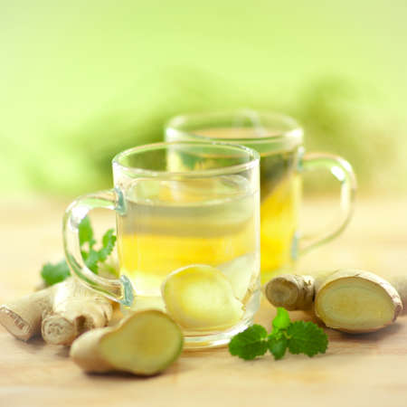 homeopathic: Ginger tea Stock Photo