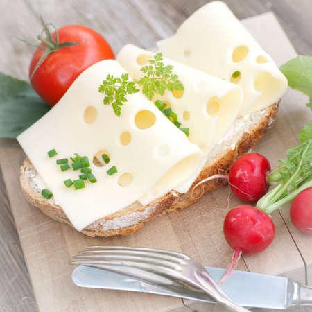 Rustic bread with cheese Stock Photo - 13272296