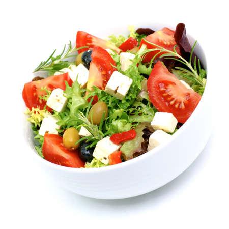 feta: Fresh salad with feta Stock Photo