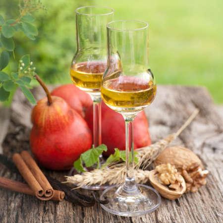 Autumn liqueur Stock Photo
