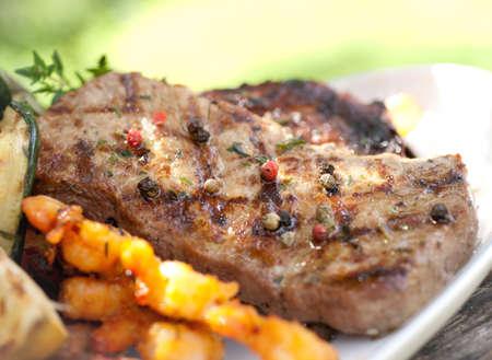 carne asada: Filete de ternera a la plancha