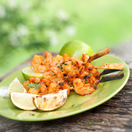scampi: Grilled scampi Stock Photo