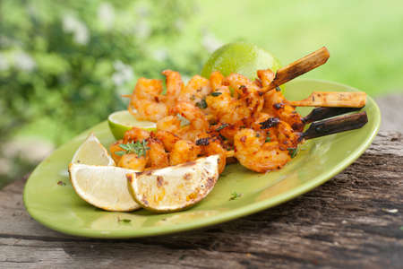 marinate: Grilled scampi Stock Photo