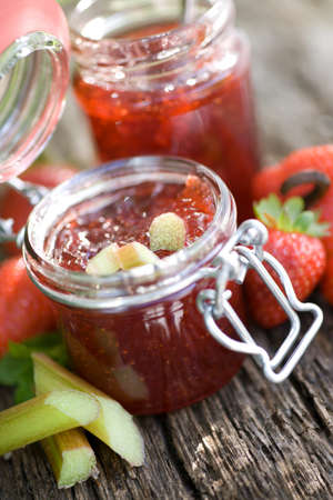 rhubarb: Strawberry jam with rhubarb
