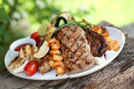 Mixed grill Standard-Bild