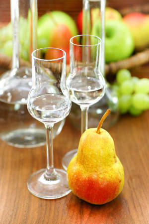 Schnapps and pear