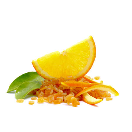 candied: Candied orange peel