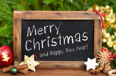 merry time: Blackboard, Merry Christmas, Happy New Year