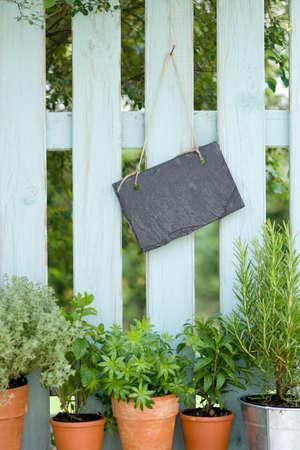 Garden fence, slate Stock Photo - 13985054