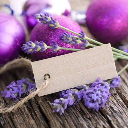 description: Fresh lavender, description field Stock Photo