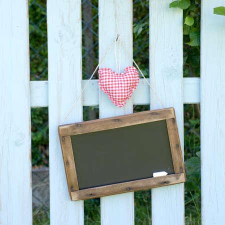 Garden fence, blackboard Stock Photo - 13989169