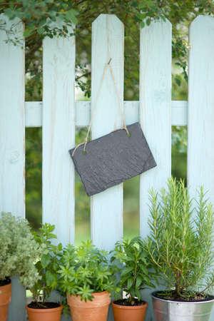 Garden fence, slate Stock Photo - 14131636