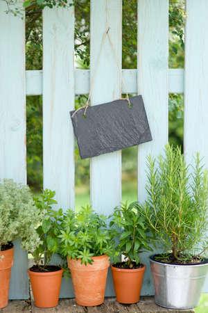 cottage fence: Garden fence, slate