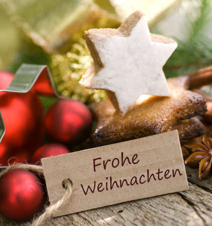 German Frohe Weihnachten photo