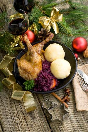 Canard, Christmas roast photo