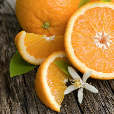 citricos: Naranjas frescas Foto de archivo