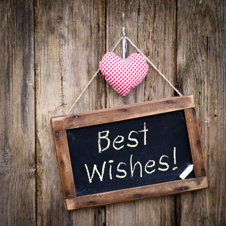 wish: Best wishes Stock Photo
