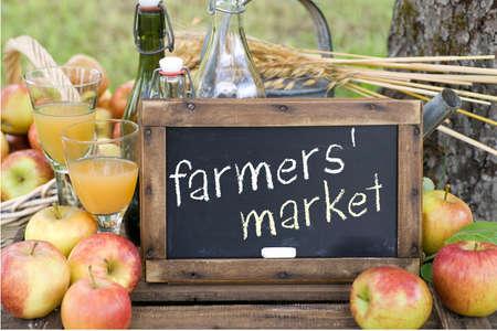 Farmers  market Standard-Bild