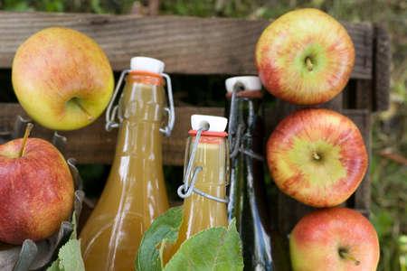 Harvest time, apple juice