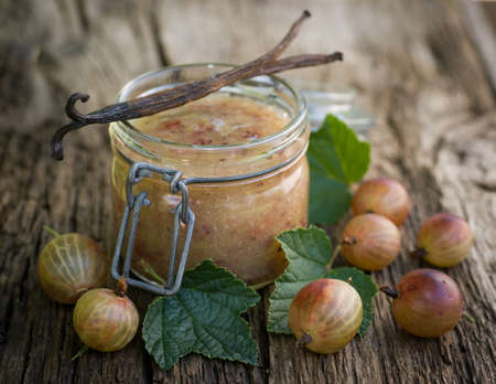 gooseberry: Gooseberry jam Stock Photo