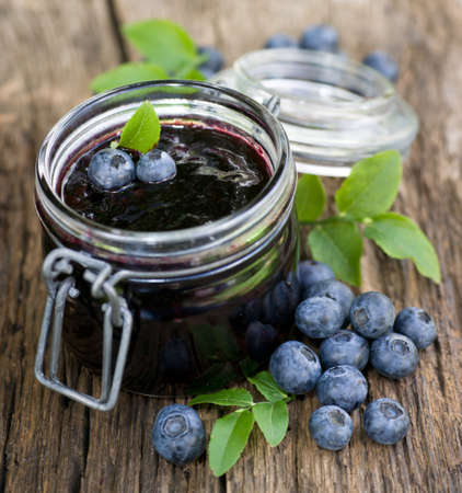Blueberry jam Standard-Bild