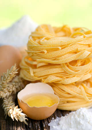 Frehs noodles with egg