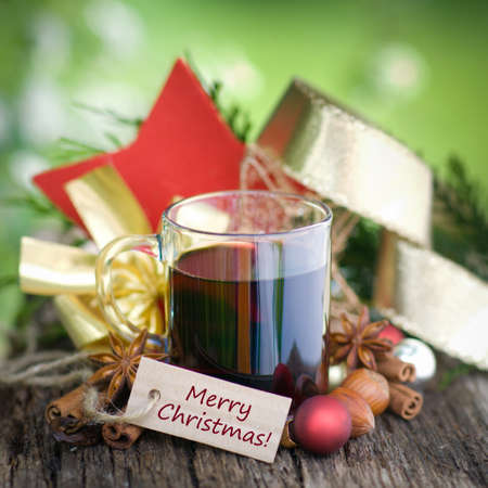 Hot spiced wine photo