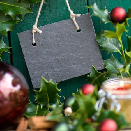 christmas time: Christmas time, slate Stock Photo