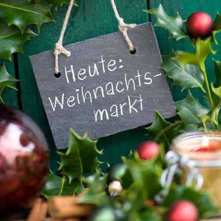 advent: Kerstmarkt Stockfoto