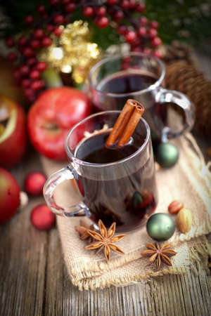 star anise christmas: Hot spiced wine