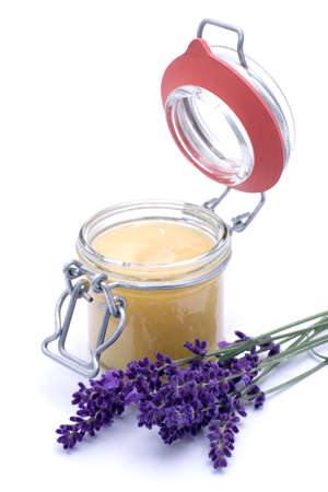 Fresh lavender honey  photo