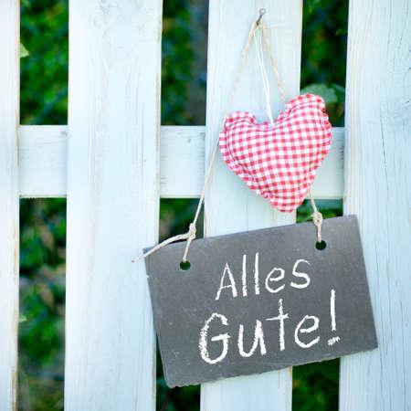 felicitation: Slate  Alles Gute   german