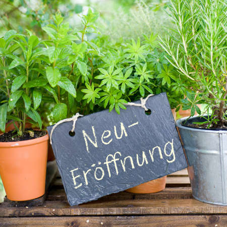 Slate  Neuer�ffnung  german  Stock Photo - 15454812