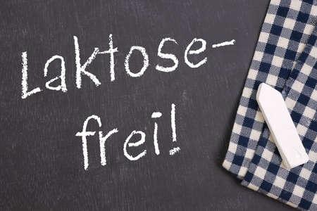 lactose intolerant: Slate  Laktose frei   german  Stock Photo