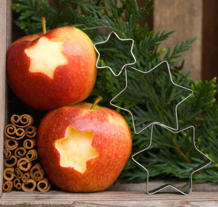 Christmas time, apples