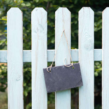 Garden fence, slate Stock Photo - 15702947