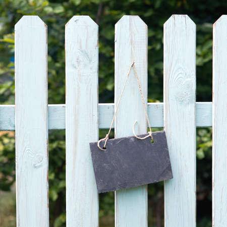 Garden fence, slate Stock Photo - 15702947