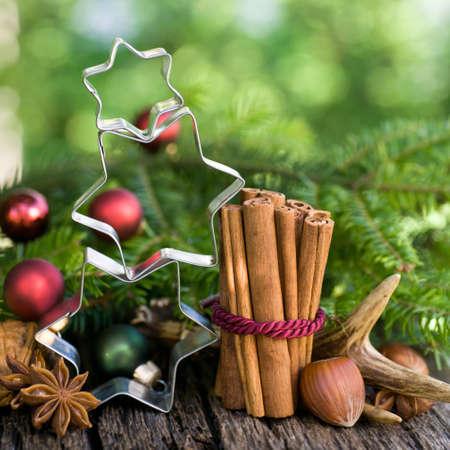 advent: Kerstmis, kruiden Stockfoto