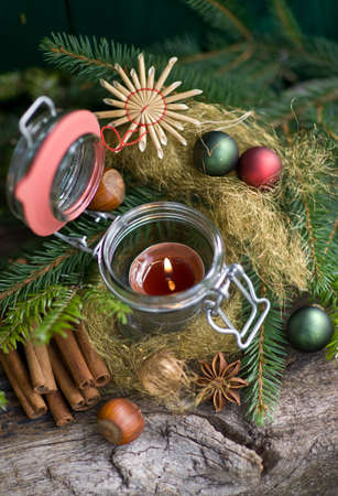perfumed candle: Christmas time, candle