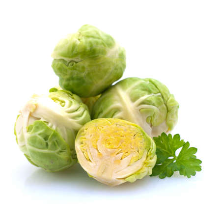 brussels sprouts: Raw brussels sprouts on white ground