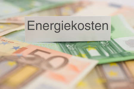 energy costs: Symbol with german text  energy costs
