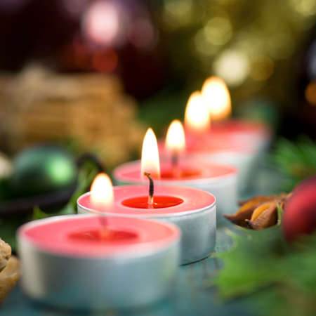 Christmas time, candles Stock Photo - 16013953