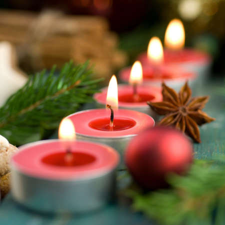 Christmas time, candles photo