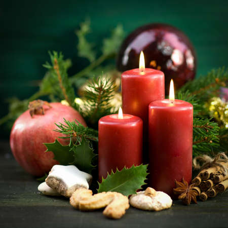 advent time: Christmas time, candles